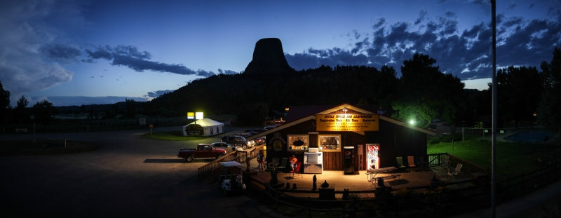 The KOA at Devil's Tower, WY.