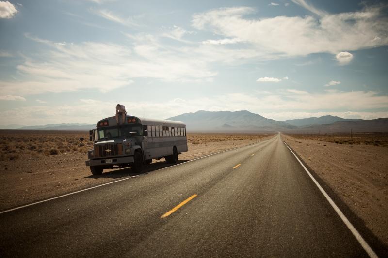 Hank overwhelmed in the Nevada desert after learning of the project going viral.
