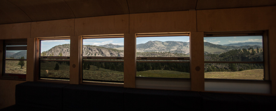 The view of Montana rolling by outside the bus.