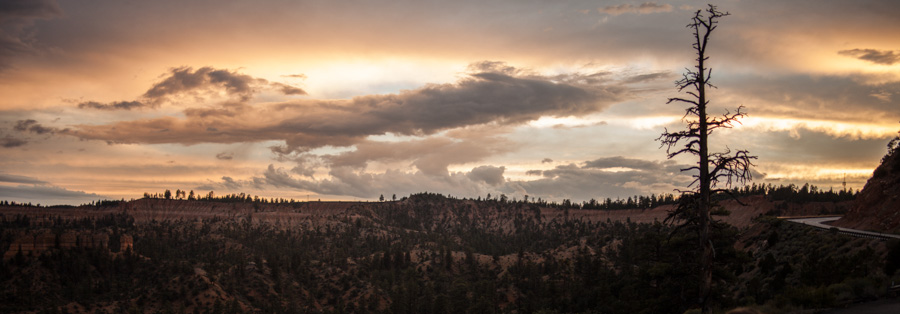 Sunset near Bryce Canyon.